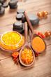 Spa supplies - orange bath salt