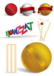 Cricket game concepts - vector illustrations