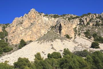 esquisto en geología Sierra de la Pila Murcia