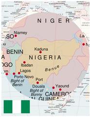 Nigeria map africa world business success background