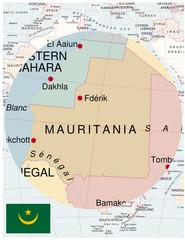 Mauritania map africa world business success background