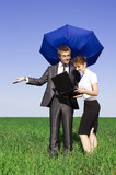 The insurance agent in the field, can not provide protection poster