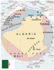 Algeria map africa world business success background