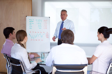 Executive presenting