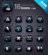 Black Squares - warning icons 01