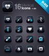 Black Squares - medical icons 01
