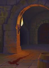 проход в подвале