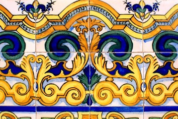 Old wall tiles in Barcelona