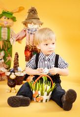 Osternest mit Junge