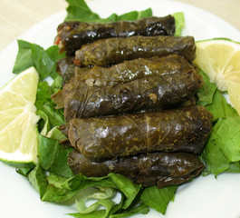Stuffed Vine Leaves Platter