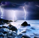 Fototapeta zatoka - piękny - Burza / Burza z piorunami