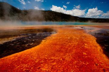 Thermal phenomenon in Yellowstone National Park