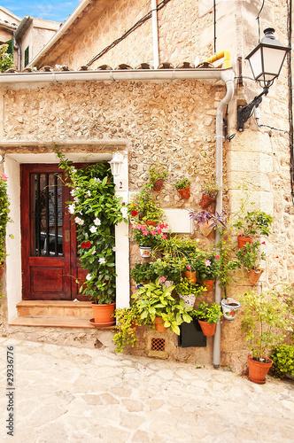 Leinwandbild Motiv Mediterranean Village