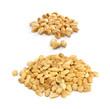 Set of Roasted Peanuts Isolated on White Background