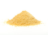 Pile of Gelatin Granules Isolated on White Background poster