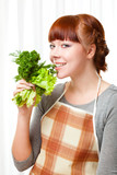 woman with greenery poster