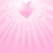 Valentine pink heart, stars and stripes