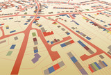 Fototapety Streetmap perspective