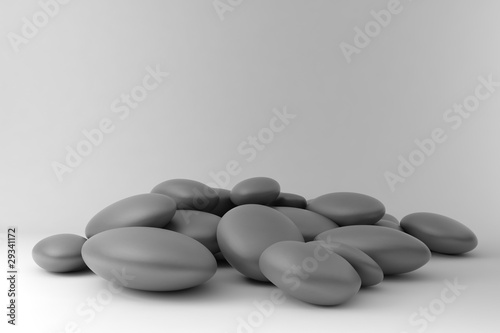 Zen stones disordered