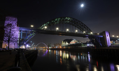 Moon Over The Tyne