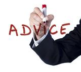 advice service écrit à la main au marker poster