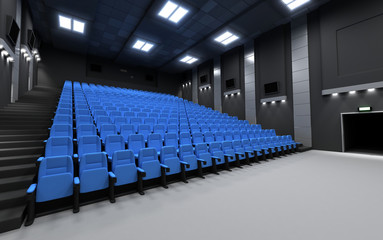Back view cinema