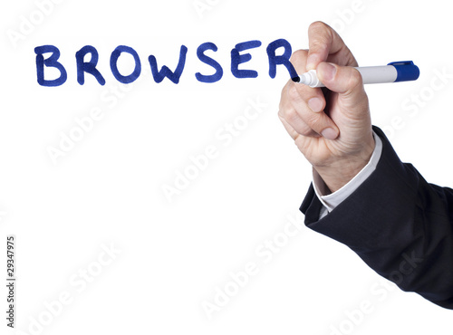 browser mot écrit à la main
