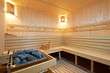 Leinwanddruck Bild - Sauna