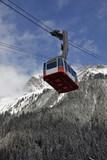 Fototapete Straßenbahn - Berg - Wintersport