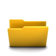 3d Folder, open and empty
