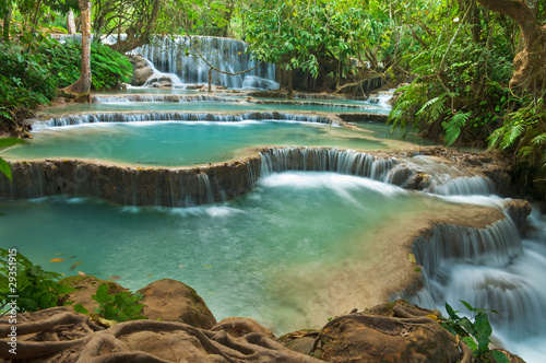 fototapeta na ścianę Kuang Si Waterfall, Luang prabang, Laos