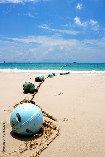 Buoys at sand beach, Samed island,Thailand