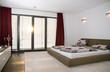 Innenansicht eines modernen Schlafzimmers