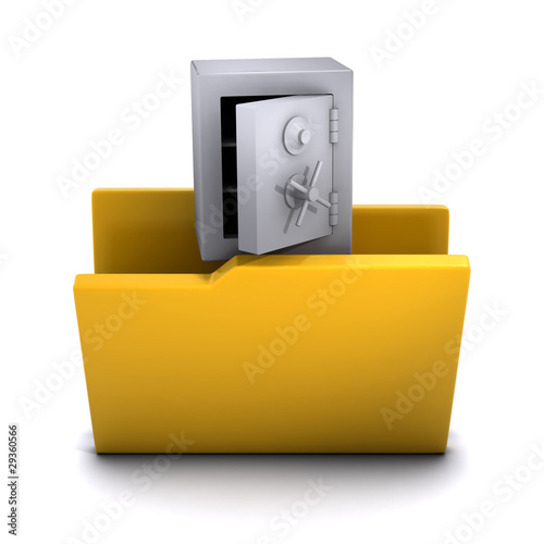 3d Folder containing safe