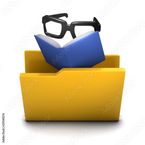 3d Folder containing a book