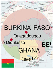 Burkina faso map africa world business success background