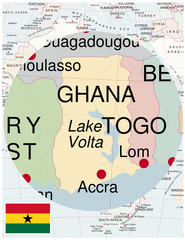 ghana map africa world business success background