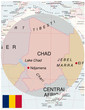 Chad map africa world business success background
