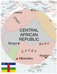 Central map africa world business success background