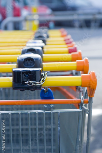 Caddies Supermarché Grande Distribution