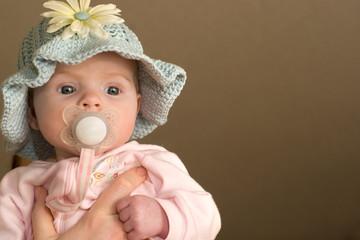 Baby Girl in Knit Hat