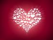 light hearts in heart