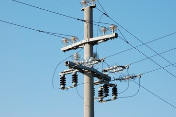 conduttori di alta tensione elettrica