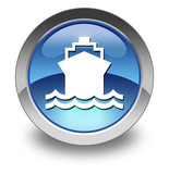 "Glossy Pictogram ""Ship / Water Transportation"""