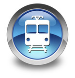 "Glossy Pictogram ""Train / Mass Transit"""
