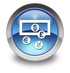 "Glossy Pictogram ""Currency Exchange"""