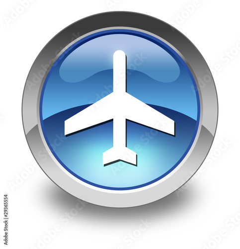 "Glossy Pictogram ""Airport / Airplane"""