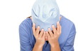 Medical doctor crying depressed