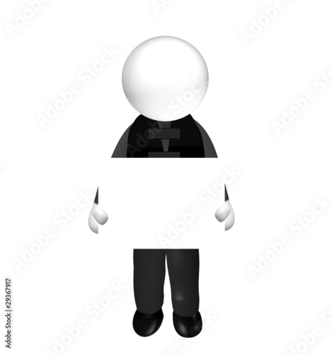 guy with bulletproof vest - blank board