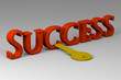 Key to success - conceptual 3d picture